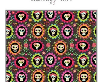 Sugar Skull Baby Bedding - crib or toddler bed, blanket, boppy, sheet, bumpers, pillow, changing pad, Day of the dead, pink, orange, green
