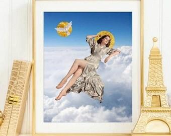 Cloud Print - Blue Sky Art Poster