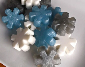 Snowflake Soap - Snow Flake Soap, Snowflake Party, Winter Soap, Holiday Soap, Guest Soap - 10 pc Soap Gift Set
