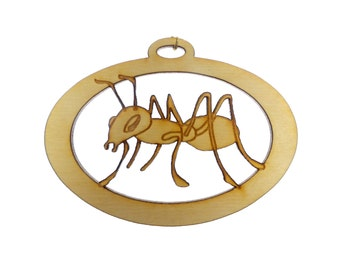 Ant Ornament - Ant Christmas Ornaments - Ant Gift Topper - Bug Ornament - Personalized Free