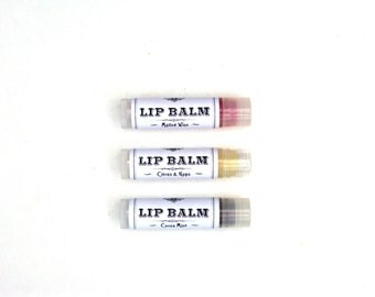Natural Lip Balm - Eucalyptus Mint, Lemon Lavender, Mulled Wine or Citrus & Hops