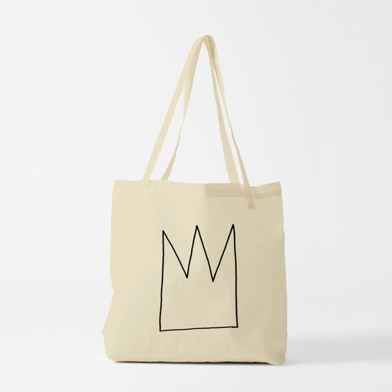 Tote Bag Crown, Gift for husband, canvas bag, Geometric bag, novelty gift for coworker, personalized tote bag, graphic gift.