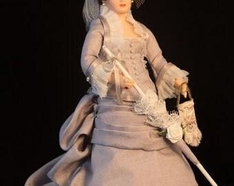Victorian Bride Miniature Doll