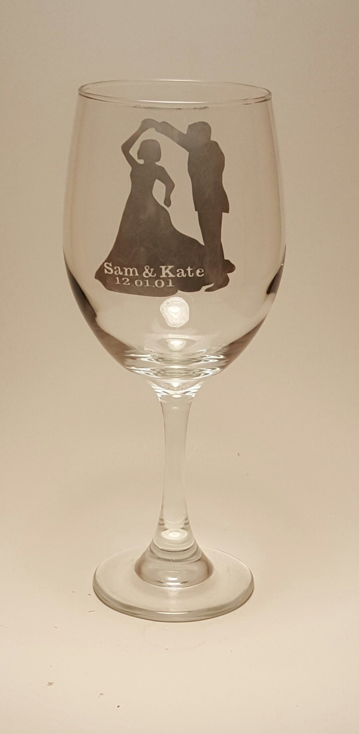 Etched First Dance Wine Glass Wedding Cheap FavorsPerfect GiftCustom GlassBride And Groom