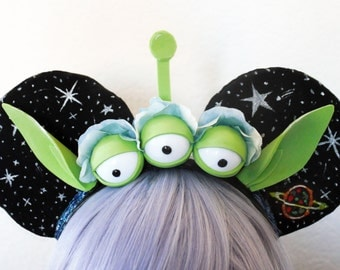 The 'Chosen One' Ears - Disney Toy Story Green Alien Toy Claw Inspired Mickey Ears
