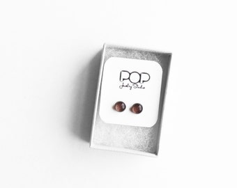 Stud Earrings, Mocha, Modern Materials Colorful Earrings Wedding Jewelry Simple Jewelry Gifts Under 20 Everyday Jewelry Gifts For Her