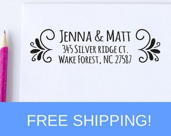Return Address Stamp - Address Stamp - Self Inking Address Stamp - Personalized Stamp   (D186)