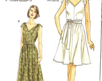Vogue 8645 Misses Dress and Sash Sewing Pattern Sizes 16 to 24 New Uncut
