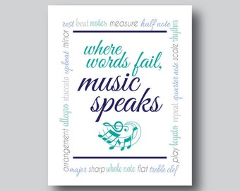 Gift for Music Lover, Music Teacher Gift, Musical Instrument, Music Artwork, Music Wall Decor, Music Wall Art, Music Note, Music Sign,Poster