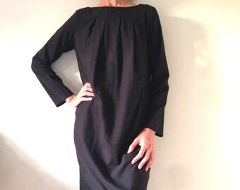 Cotton Knit Dress, Maternity Dress, Fuller Figure Dress, Relaxed Fit, Long Sleeved Dress, South African Shop, one of a kind, made to order.
