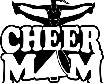 Cheer Mom T Shirt/ Cheer Mom Shirt/ Cheer Mom Clothing/ Cheer Mom Gift/ Cheer Mom/ Girl Splits Cheer Mom Short Sleeve T Shirt