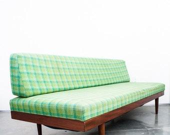 Mid Century Danish Modern Daybed Couch Sofa Vintage Storage Teak Green Greenbelt Storage Retro FREE SHIPPING