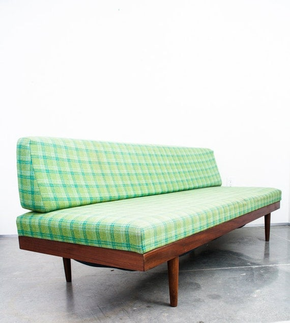 Mid century danish modern daybed couch by midcenturysacramento for Mid century daybed sofa