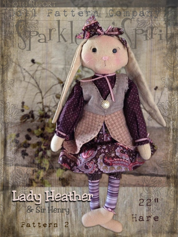 "Pattern: Lady Heather - 20"" Girl Hare"