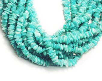 """Amazonite Chips Beads 7mm 16""""L"""