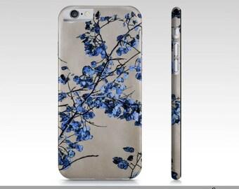 Art iPhone 6 Case, Blue Leaves Art iPhone 6 Cases, Fine Art Cover For iPhone 6, Nature Art Phone Case, iPhone 6, Leaf Art, Digital Artwork