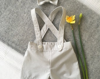 Oliver Shorts with Braces Suspenders and Bow-tie Set- Choice of Fabrics