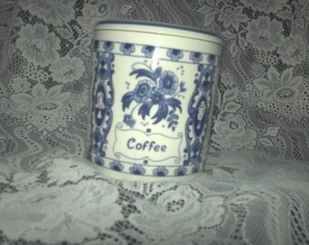Delft Blue Coffee Canister