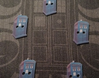 Tardis Buttons - sewing notions, Doctor Who, SciFi Syfy