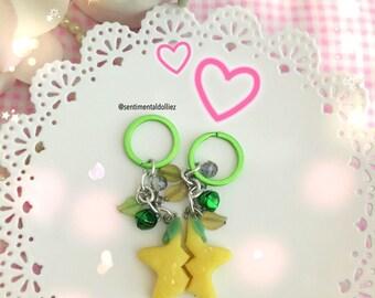 Paopu Fruit, kawaii keychains, couple keychains, kingdom hearts fruit, star fruit keychain, star keychain, friendship paopu, MADE TO ORDER
