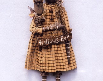 Primitive PATTERN Hallows Eve Pumpkin Girl