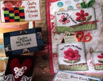 Quilted Post Cards By Cheryl Haynes, Barbara Cooley And Beth Davis Paperback Embroidery And Quilting Pattern Book 2006