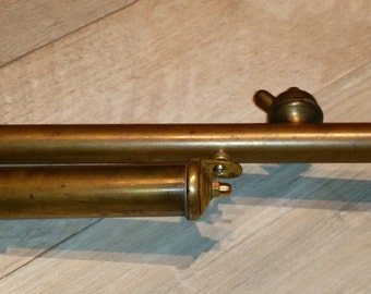 Steampunk Raygun - Brass rifle with wooden handle - One of a kind - Handmade
