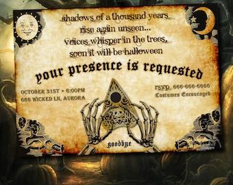 HALLOWEEN Invitation Adult, Ouija Board Invitation PRINTABLE, Halloween Invites, Halloween Party Invitation, Halloween Costume Party Spirit
