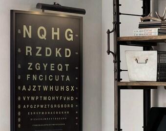 Eye Chart Print : Vintage Eye Chart art print poster - Optometry Print
