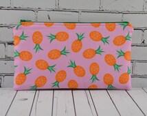 Pineapple Pencil Case, Kawaii Fruit Make Up Bag, Retro Pineapple