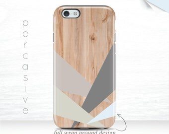 iPhone 7 Slim Case Geometric iPhone 6 Case Wood Print iPhone 5S Case 3D iPhone 6Plus Case Abstract Modern iPhone 6 Case Galaxy s7 case  05j