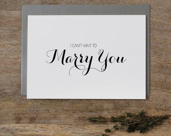I Can't Wait To Marry You, Wedding Card to Bride or Groom, Wedding Day Card, Wedding Cards Wedding Stationery Cards, Future Husband Wife, K6