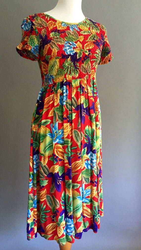 90s Bahama Mama Dress : Impressions of California (M)