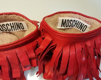 FREE  SHIPPING   Moschino Leather Gloves