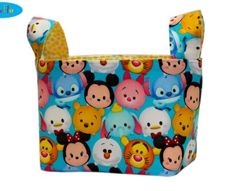 Bedroom Storage | Storage Bin | Storage Basket |  Bedroom Organizer | Fabric Bin | Tsum Tsum Basket | Inspired by Disney Storage Bin