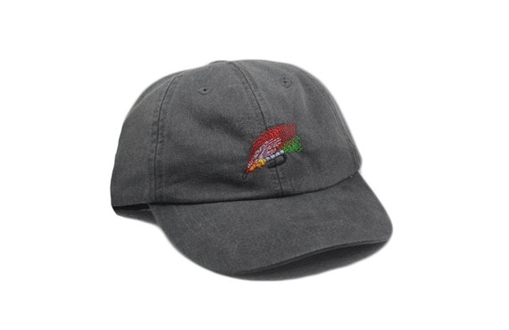 Fly fishing embroidered hat baseball cap bass fishing hat for Fishing ball caps