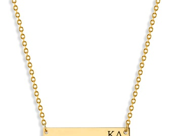 kappa delta sorority bar necklace kappa delta necklace sorority necklace sorority gift big little gift sorority jewelry
