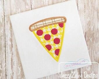 Pizza Applique embroidery Design - pizza appliqué design - pizza party appliqué design - food appliqué design - pepperoni pizza appliqué