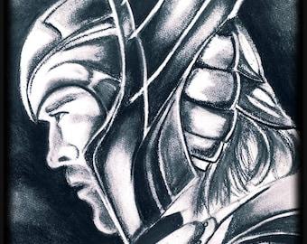 Thor Charcoal Artwork