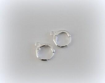 Jewelry Findings  925 Sterling Silver Lever Back Ear DIY Drop Earring 13MM Hoop DIY Settings,Sterling Silver Lever Back Ear Wires