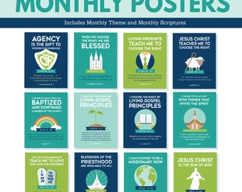 2017 LDS Primary Monthly Posters - Choose the Right