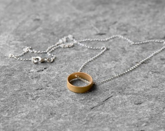 Sterling silver Circle chain necklace, minimalist necklace, geometric necklace, eternity necklace, karma necklace, gold circle necklace