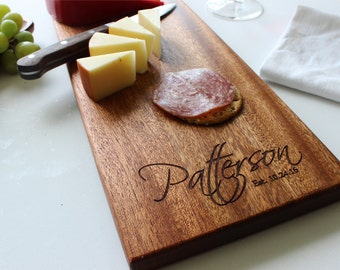 Personalized Cheese Board, Custom Name, Cutting Board, Wedding Gift, Wedding, Anniversary Gift, Closing Gift, Gift For Her, Husband Gift