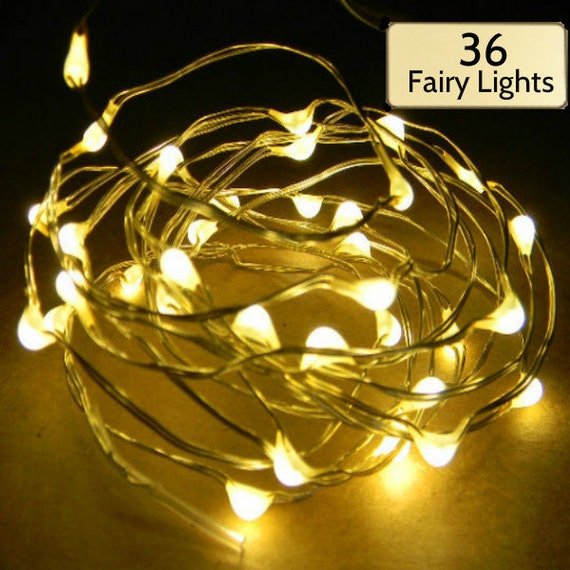 Dorm Room Special: 36 Fairy Lights on 6-ft gold wire string