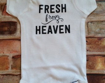Fresh from Heaven Bodysuit - Coming Home Outfit - Baby Outfit - Baby shower gift