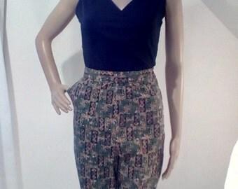 1950s Tribal Print Shorts