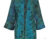 Plus Size Cardigan Kimono | Women's Oversized Batik Kimono with Long Sleeve, One Plus Size {1x to 3x) Clothing for the Full Figure Woman