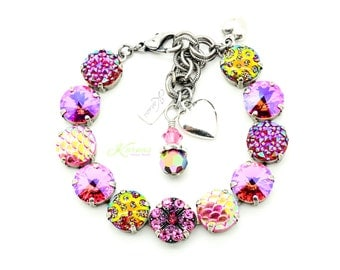PRIMA DONNA Bracelet Swarovski Elements 12mm Stones *Pick Your Finish *Karnas Design Studio *Free Shipping*