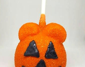 MICKEY inspired Halloween Caramel Apples. Caramel apples. Disney  inspired treats. Apples. Mickey party supplies. Kids halloween party.