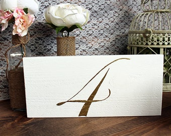 FREESTANDING TABLE NUMBERS - Wedding Table Numbers - Wedding Table Signs - Wedding Table Decor - Rustic Table Decor - Rustic Wedding Decor